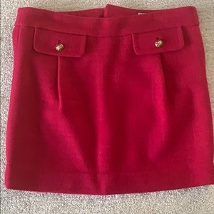 Juicy Couture Pink Wool Miniskirt